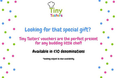 Tiny Tasters' Gift Vouchers