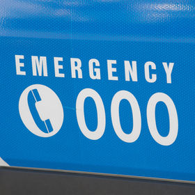 Emergency number 000 in Australia on an