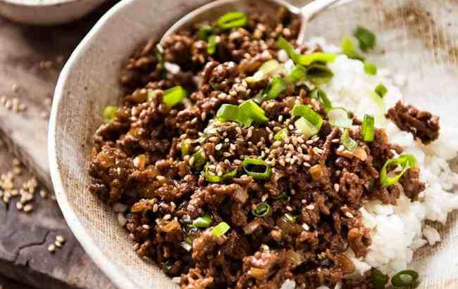 East meets West Tasty Mince Bowl