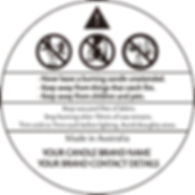Custom Candle Safety Label Style B