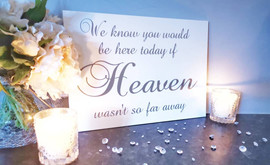 A4 Coloured Acrylic Heaven Sign
