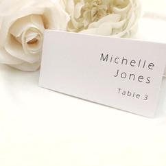 Simple Card Place Cards