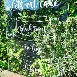 A4 Acrylic Cake Flavours