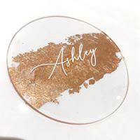 Rose Gold foil Acrylic Circles