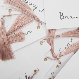 Card Place Cards with Tassels