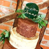 Paintwashed Cake Topper
