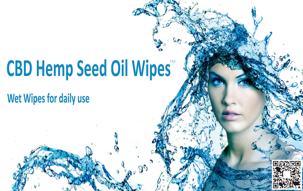 CBD Hemp Seed Oil Wipes