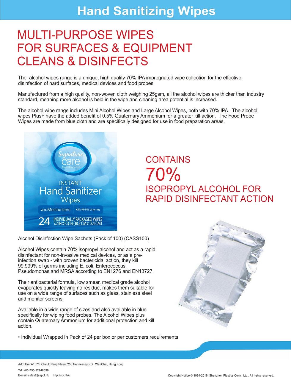 Hand Sanitizer Wet Wipes