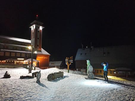 Letzter Schnee am Fichtelberg