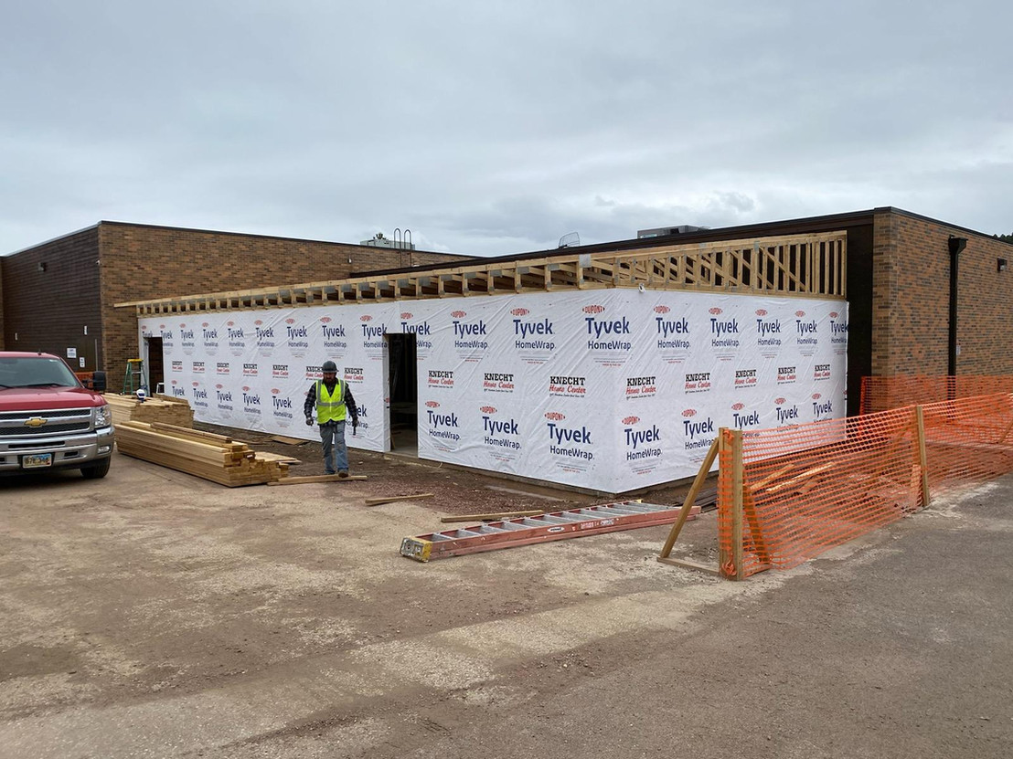 Custer Library Addition Framed