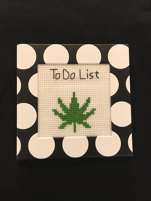 Framed Cross Stitch-To do list