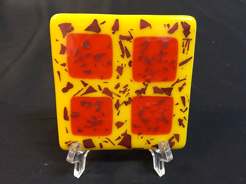 Orange Glass Tile