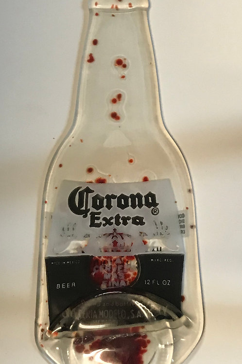 Corona Bottle with red dots