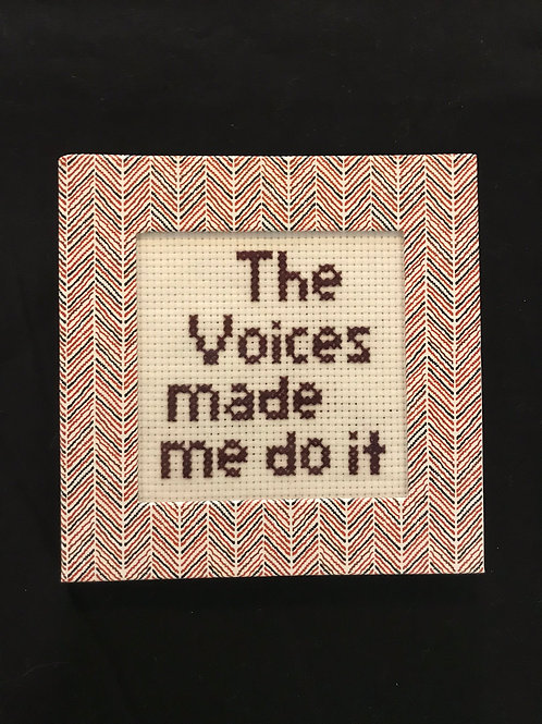 Framed Cross stitch-Voices