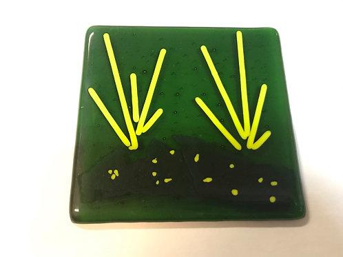 Grassy Green Glass Tile