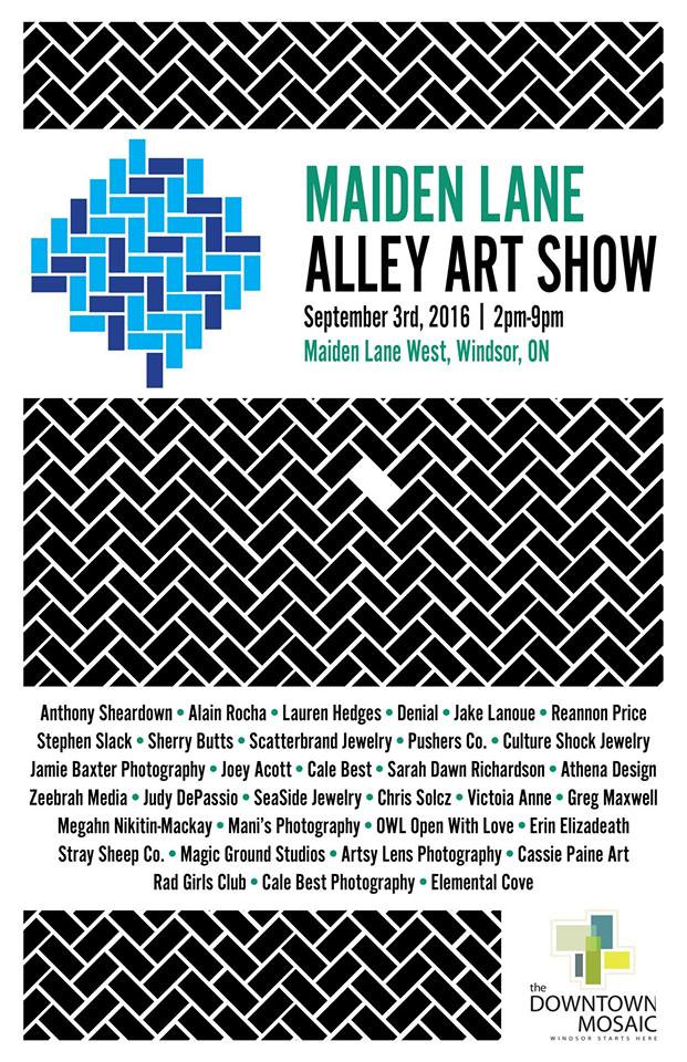 Upcoming Show: Maiden Lane Alley Art Show