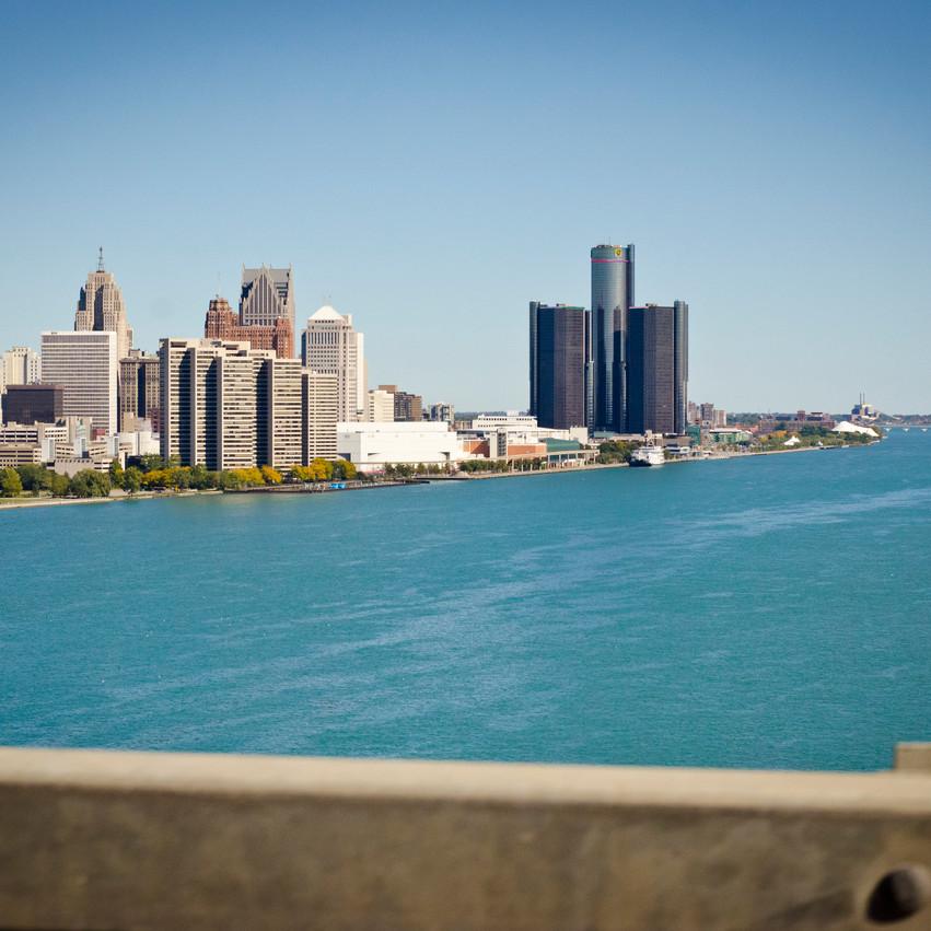 Ambassador Bridge Detroit Skyline Photography