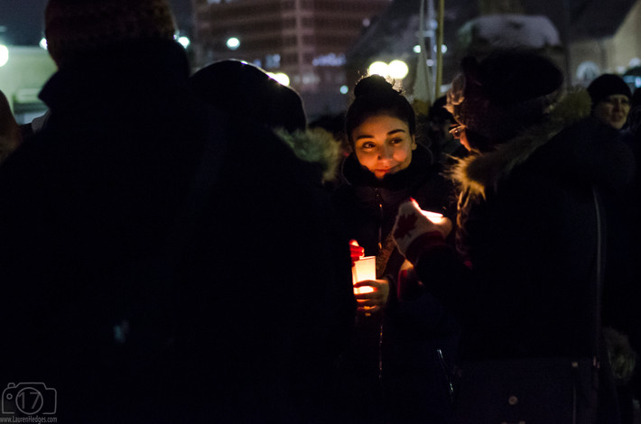 Windsor's Candlelight Vigil for Quebec City