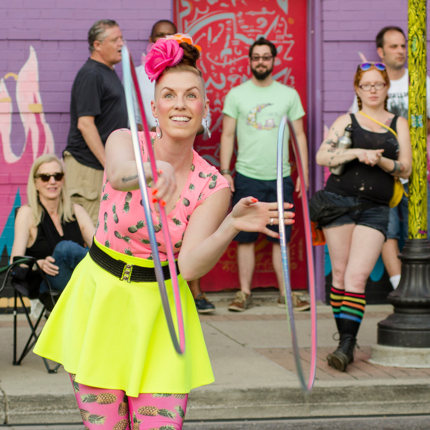 Lauren Hedges Photography Royal Oak Summer Concert Series Hula Hoop