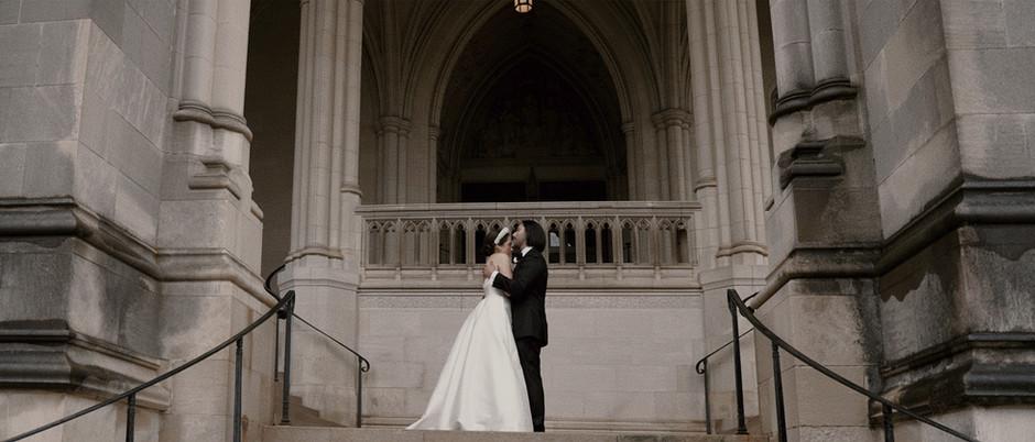 Washington DC Wedding Videographer // Natalia and Pablo at the National Cathedral