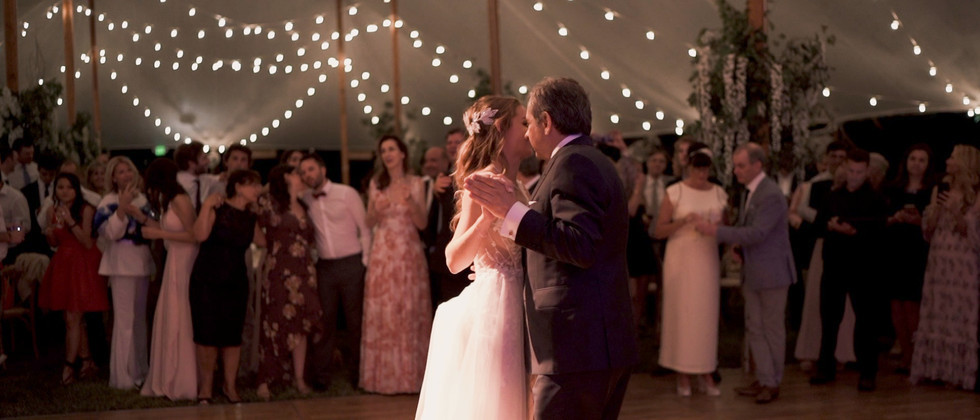 father daughter dance wedding bride