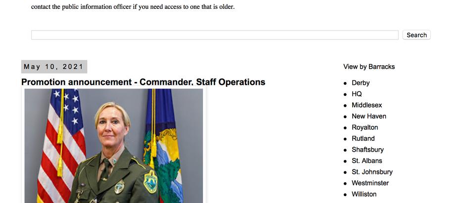 Congratulations Lt. Teresa Randall, Commander Staff Operations Promotion!