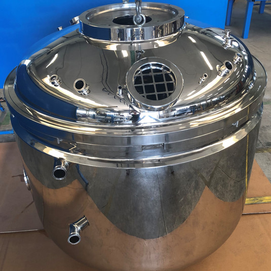2000L vessel for mixer for cosmetic industry