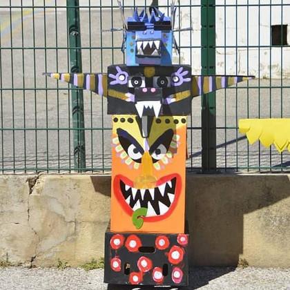 Carnaval 2019_#carton. #recyclage #totem