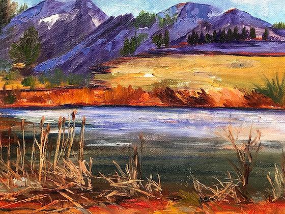 """""""Wonderland Lake"""" oil painting"""