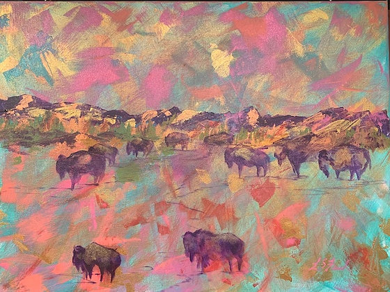 """The Spirit of the Buffaloes"" print"