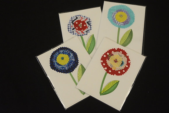 April's Flowers Note Cards