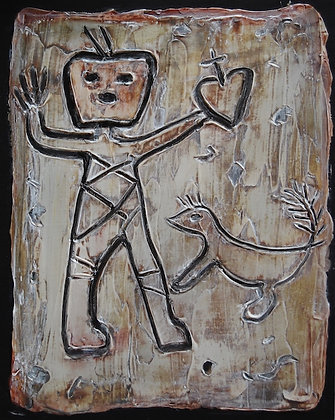 """Bandelier Petroglyph I, II, III"" by Connie Slack"