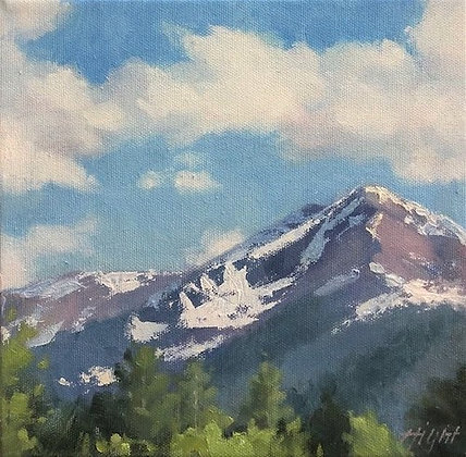 """Spring Snowfields"" by Lori Hight"