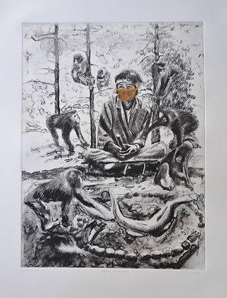 """""""Monkey Mind 2020"""" by Linda Lowry"""