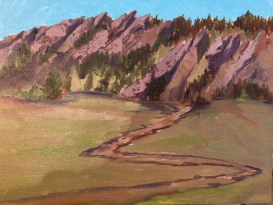"""""""Flatirons in the Springtime"""" oil painting"""
