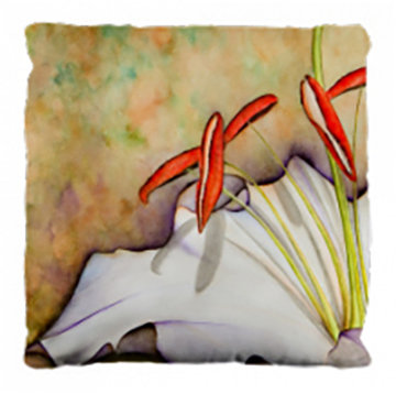 White Lily Pillow