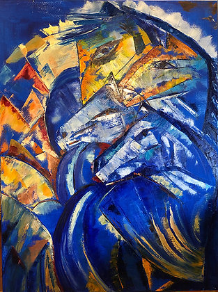 """""""Homage to my Hero Franz Marc"""" by Mehry Khosravi"""