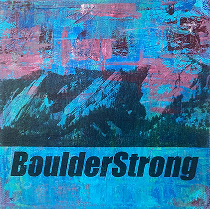 """""""Boulder Strong Blue"""" by Timolyn Esson"""