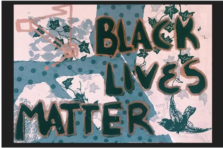 """Black Lives Matter"" Postcard by Khiri Lee"
