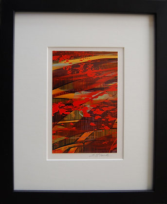 """8""""x10"""" Original Acrylic Painting, Matted & Framed  #4"""