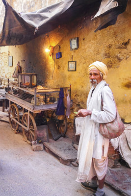 Old Man in Indian Market