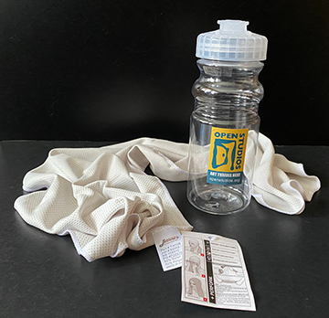Water Bottle & Cooling Towel