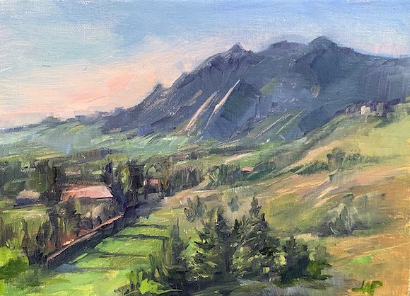 """View of Dakota Ridge"" by Lydia Pottoff HONORABLE MENTION"