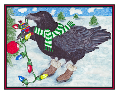 Holiday Raven Cards