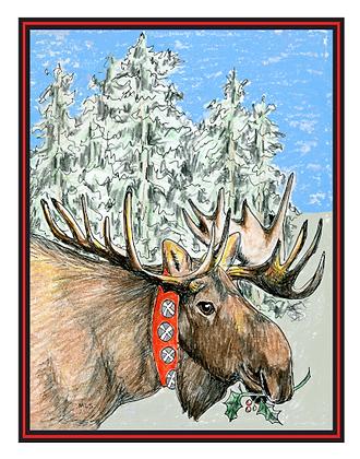 Jingle Bull Moose Cards