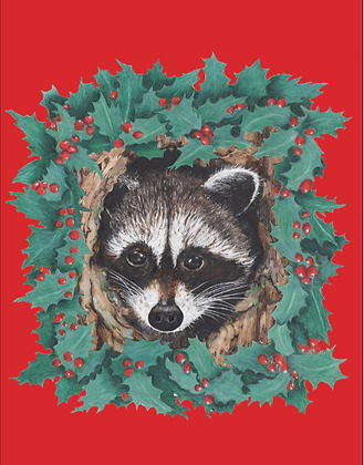 Raccoon Wreath Cards
