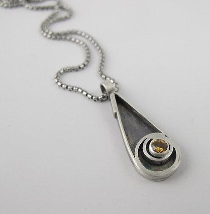 Teardrop Pendant with Sapphire