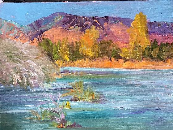 """Hygiene Lake"" oil painting"