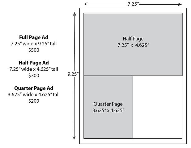 Open Studios Catalog Ad Specs