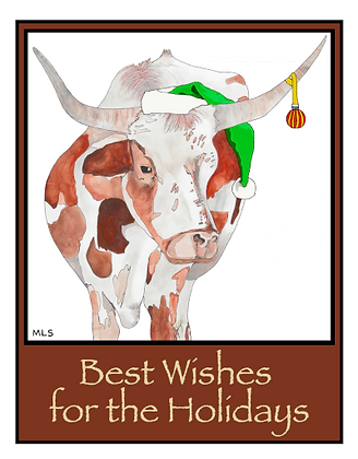 Longhorn Holiday Cards